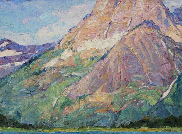 Distant View - Painting by Nellie Augusta Knopf