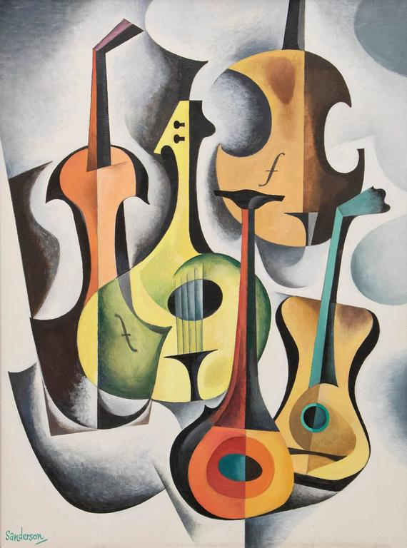 String Instruments #5 - Painting by William Sanderson
