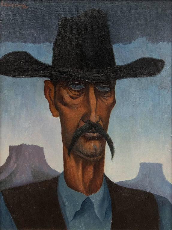 Hombre - Painting by William Sanderson
