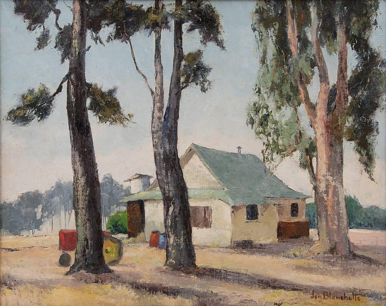 Capitola, Used To Be Airfield (California) - Painting by Jon Blanchette
