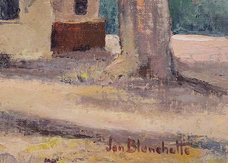 Capitola, Used To Be Airfield (California) - Black Figurative Painting by Jon Blanchette