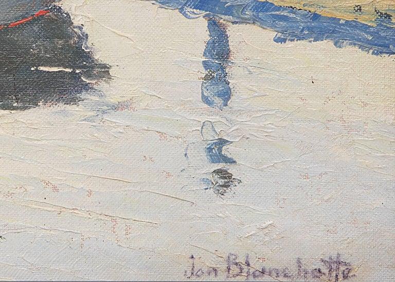 Santa Cruz Harbor (California - American Impressionist Painting by Jon Blanchette
