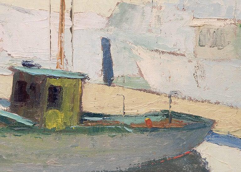 Santa Cruz Harbor (California - Painting by Jon Blanchette