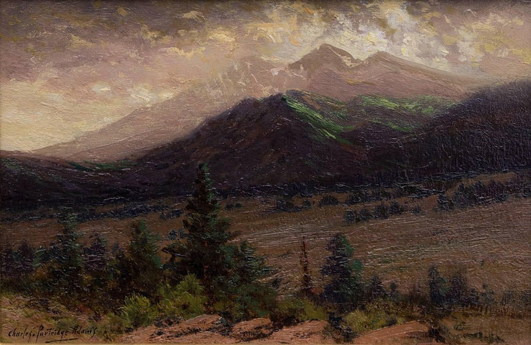 Storm Clearing on Long's Peak (from near Estes Park, Colorado) - Painting by Charles Partridge Adams