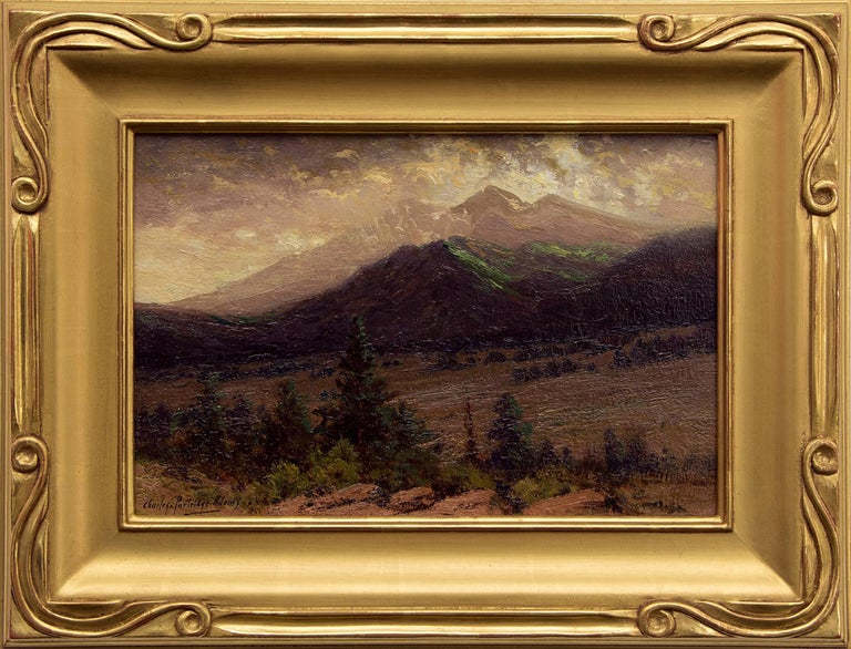 Charles Partridge Adams Landscape Painting - Storm Clearing on Long's Peak (from near Estes Park, Colorado)