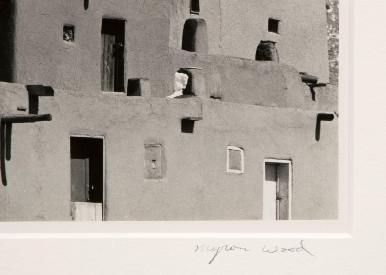 Untitled (Taos Pueblo) - Gray Black and White Photograph by Myron Wood