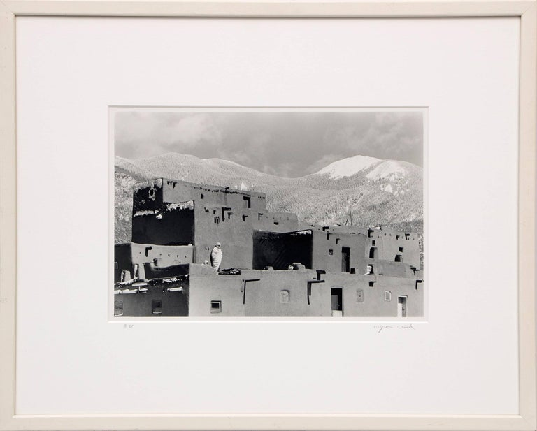 Myron Wood Black and White Photograph - Untitled (Taos Pueblo)