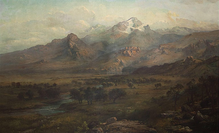 Untitled (Rocky Mountain Landscape) - Painting by George Ernest Colby