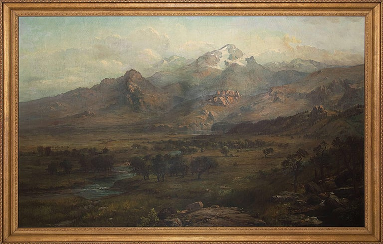 George Ernest Colby Landscape Painting - Untitled (Rocky Mountain Landscape)
