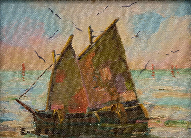 Group of Three Maritime/Sailboat Oil Paintings 8
