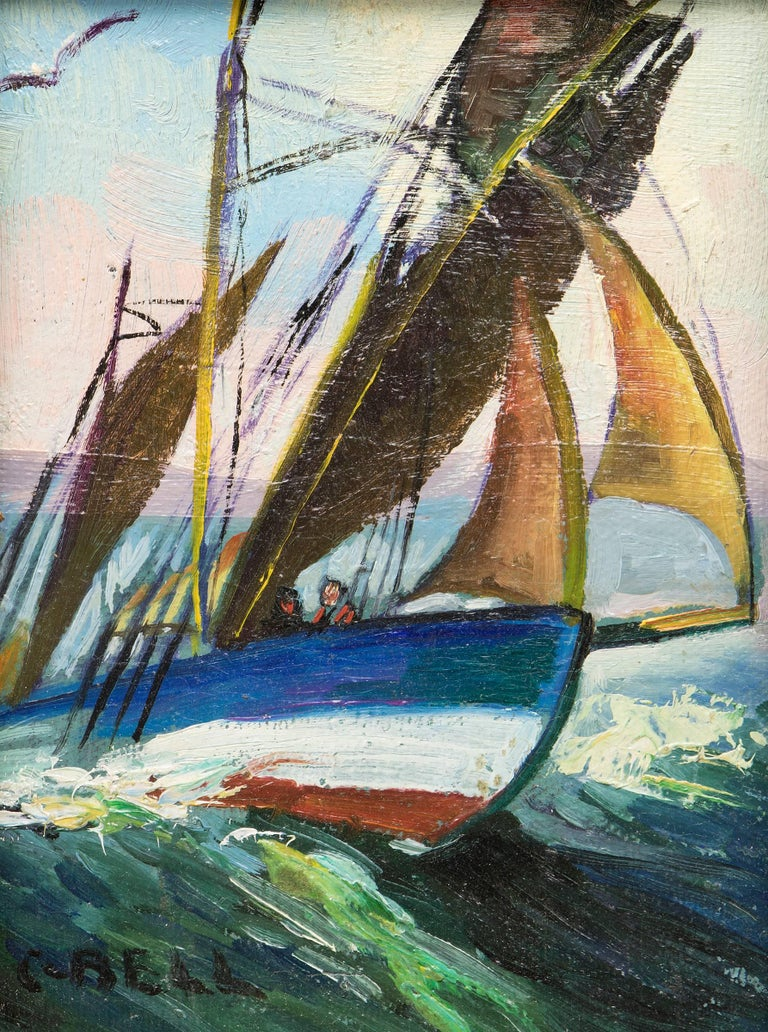 Group of Three Maritime/Sailboat Oil Paintings 5