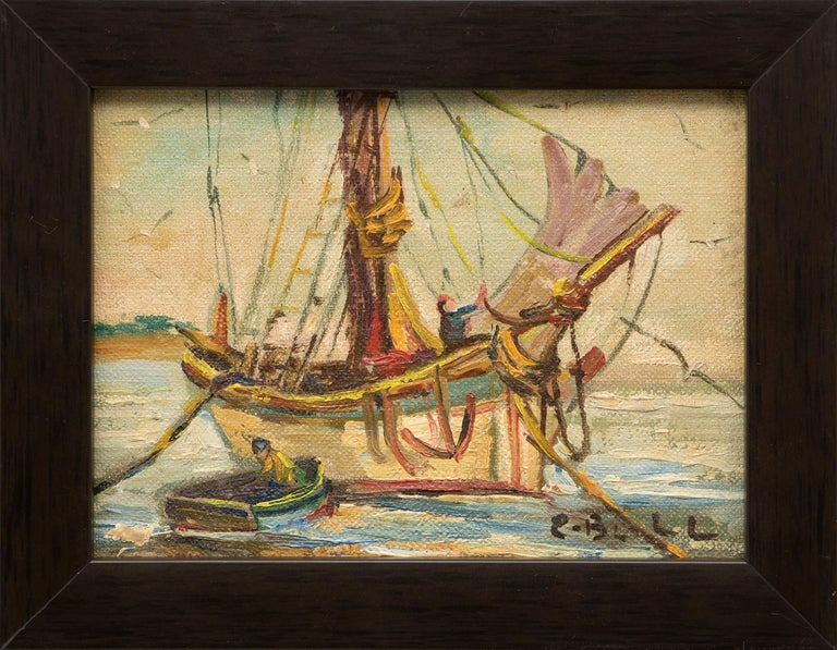 Group of Three Maritime/Sailboat Oil Paintings For Sale 1