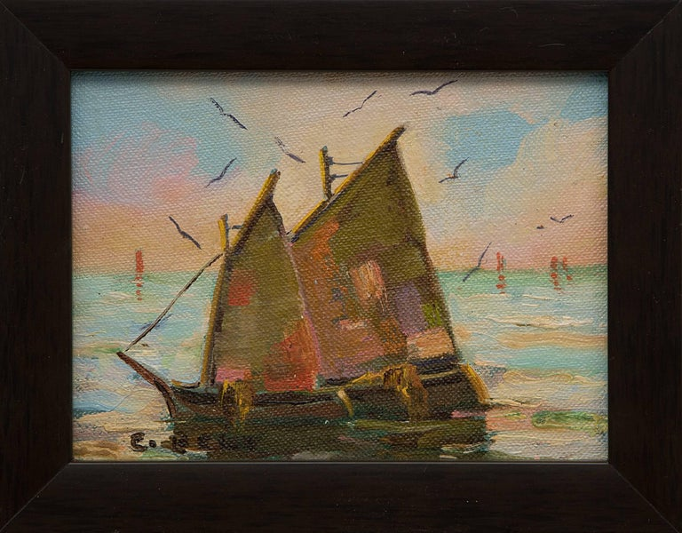 Group of Three Maritime/Sailboat Oil Paintings 10