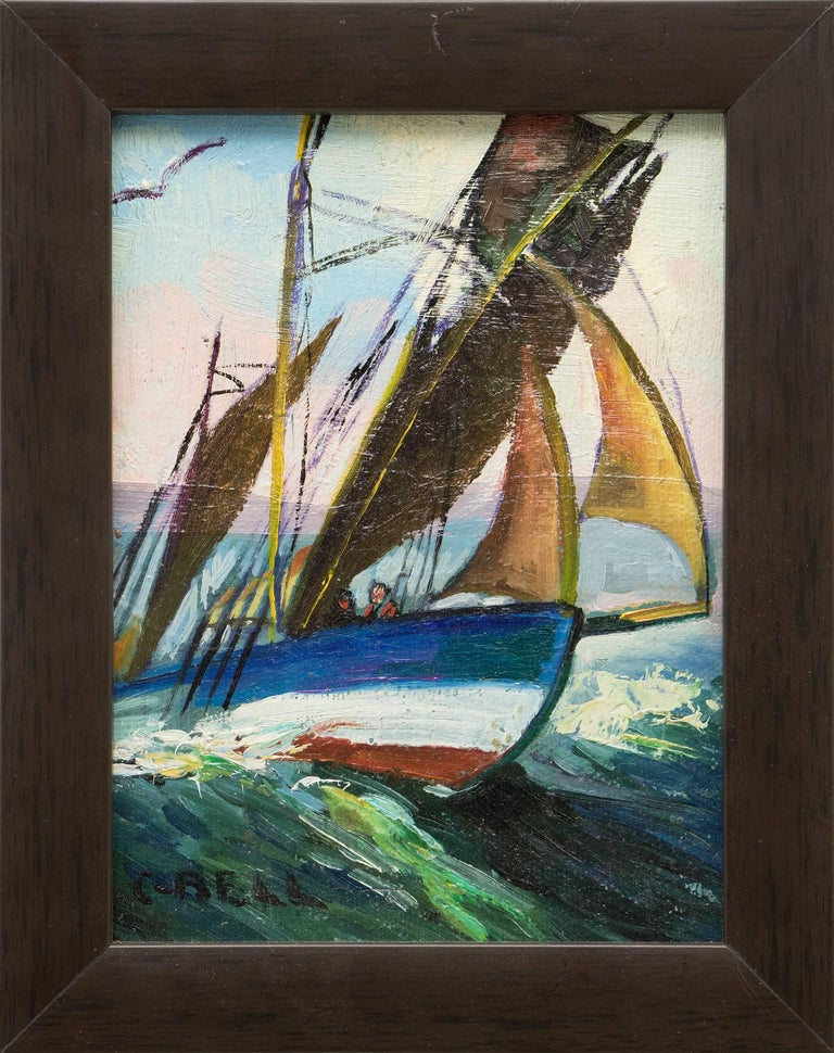 Group of Three Maritime/Sailboat Oil Paintings 7