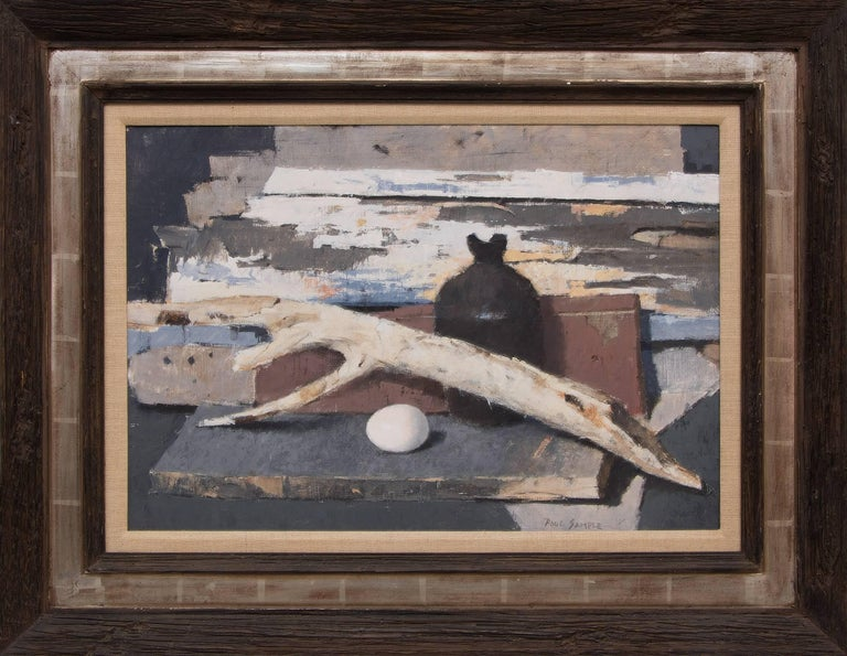 Paul Sample Still-Life Painting - Still Life with Old Wood and Egg