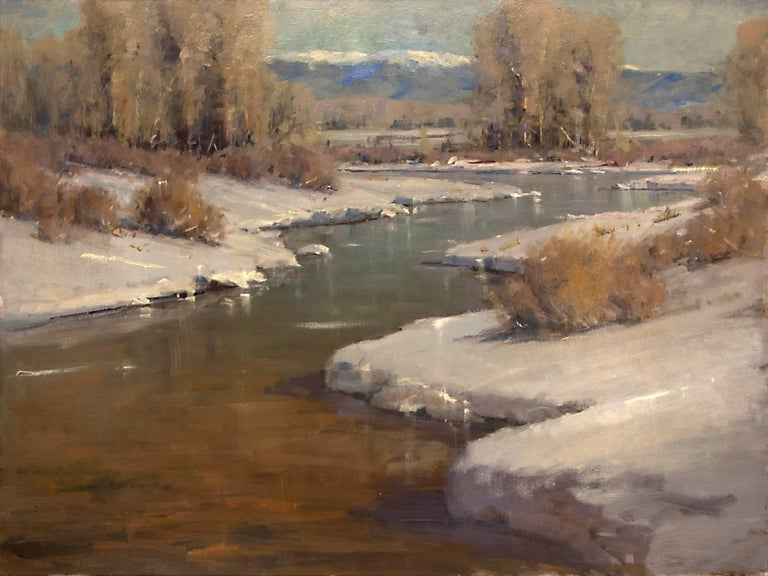 Untitled (Afternoon Light on Snow Along the Front Range, Colorado) - Painting by Rick Howell