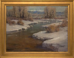 Untitled (Afternoon Light on Snow Along the Front Range, Colorado) Original Oil