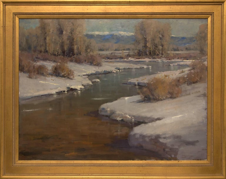 Rick Howell Figurative Painting - Untitled (Afternoon Light on Snow Along the Front Range, Colorado)