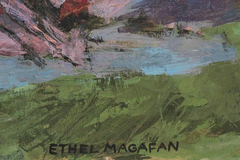 Jenny Lake, Tetons (Wyoming) - American Modern Painting by Ethel Magafan