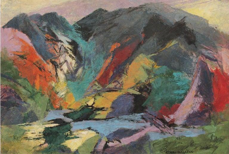 Jenny Lake, Tetons (Wyoming) - Painting by Ethel Magafan