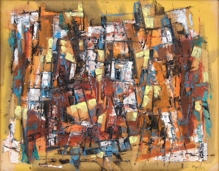 Untitled (Abstract Expressionist Composition) - Painting by Charles Ragland Bunnell