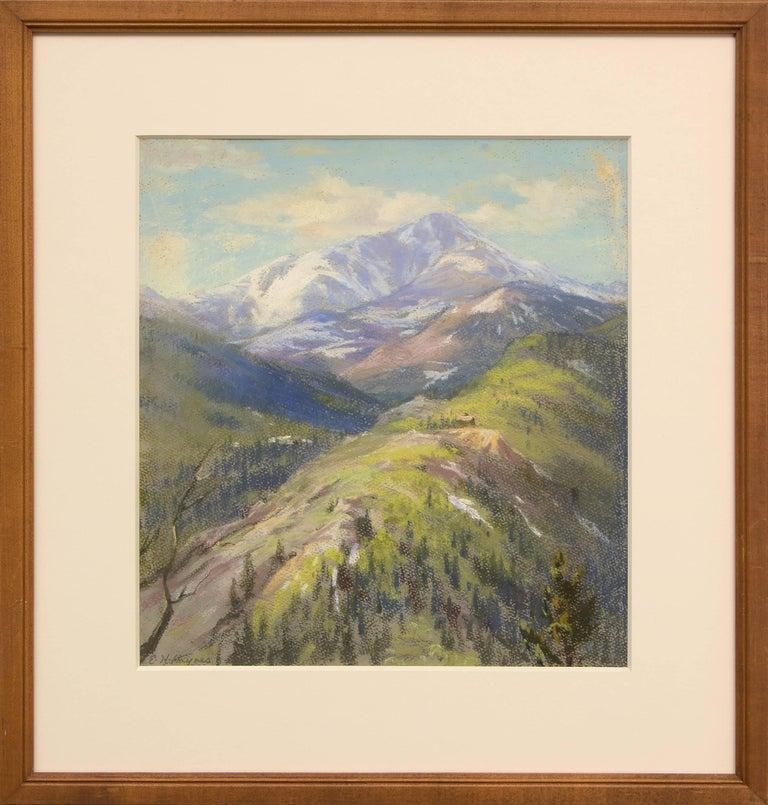 Elsie Haddon Haynes Landscape Art - Untitled (Colorado Mountain Landscape)