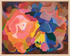Bouquet (Abstract Composition in Coral, Pink, Orange, Yellow, Blue and Green)