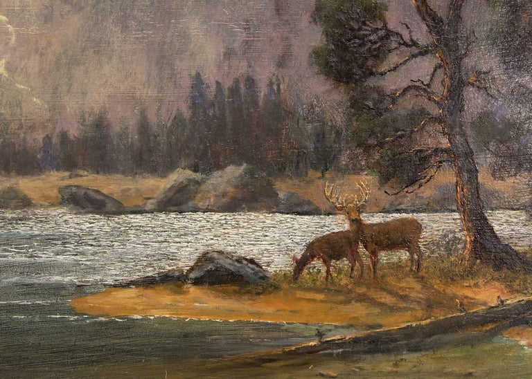 After the Storm (Dream Lake, Rocky Mountain National Park) - Brown Landscape Painting by Jerry Malzahn
