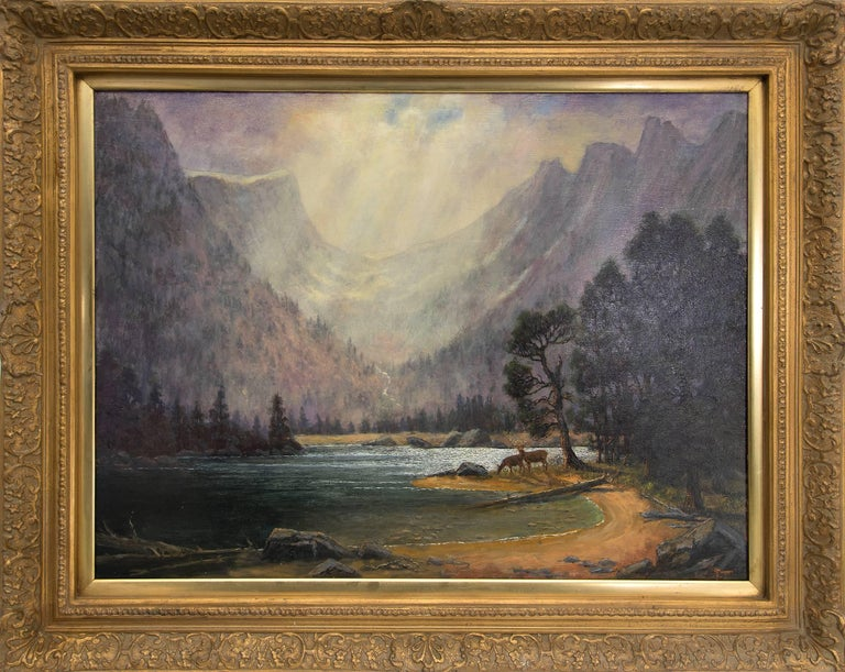 Jerry Malzahn Landscape Painting - After the Storm (Dream Lake, Rocky Mountain National Park)