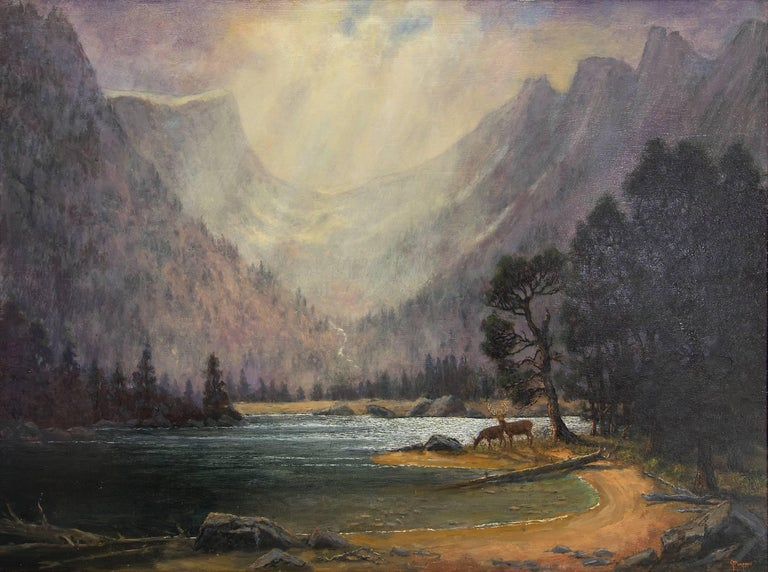 After the Storm (Dream Lake, Rocky Mountain National Park) - Painting by Jerry Malzahn