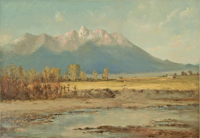 Untitled (Blanca Peak and Little Bear, Sangre de Cristo Mountains, Colorado) - Painting by William H. M. (Coxe) Cox