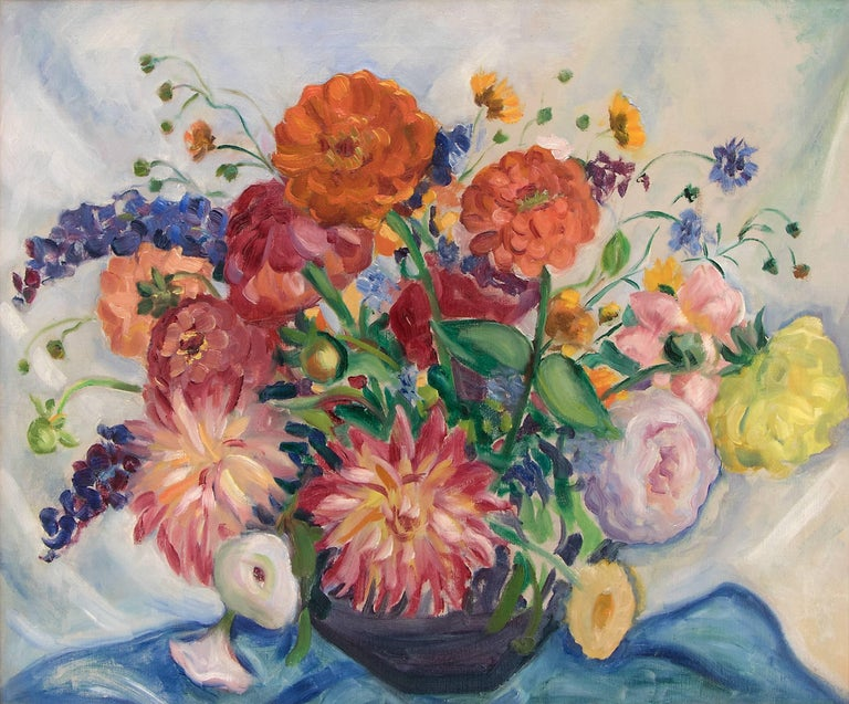 Mixed Bouquet - Painting by Kenneth Miller Adams