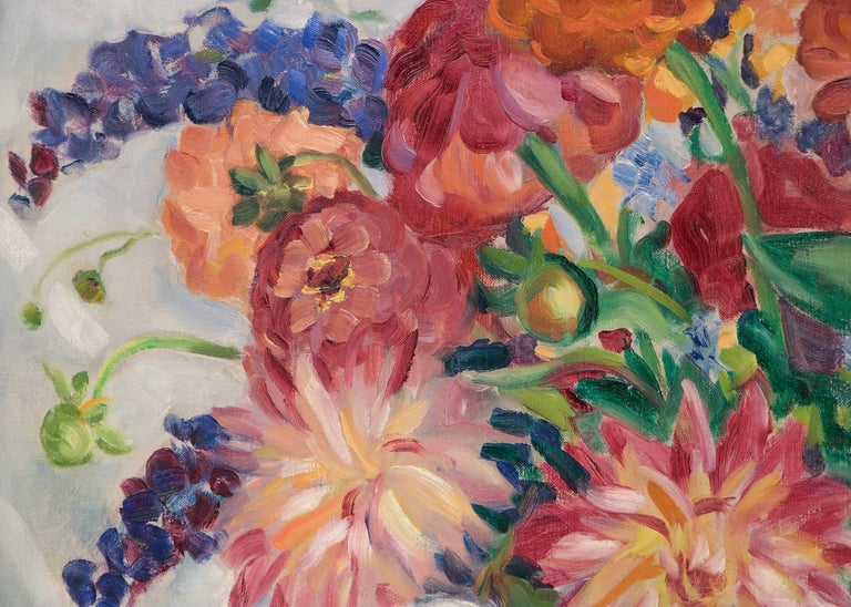 Mixed Bouquet - American Impressionist Painting by Kenneth Miller Adams
