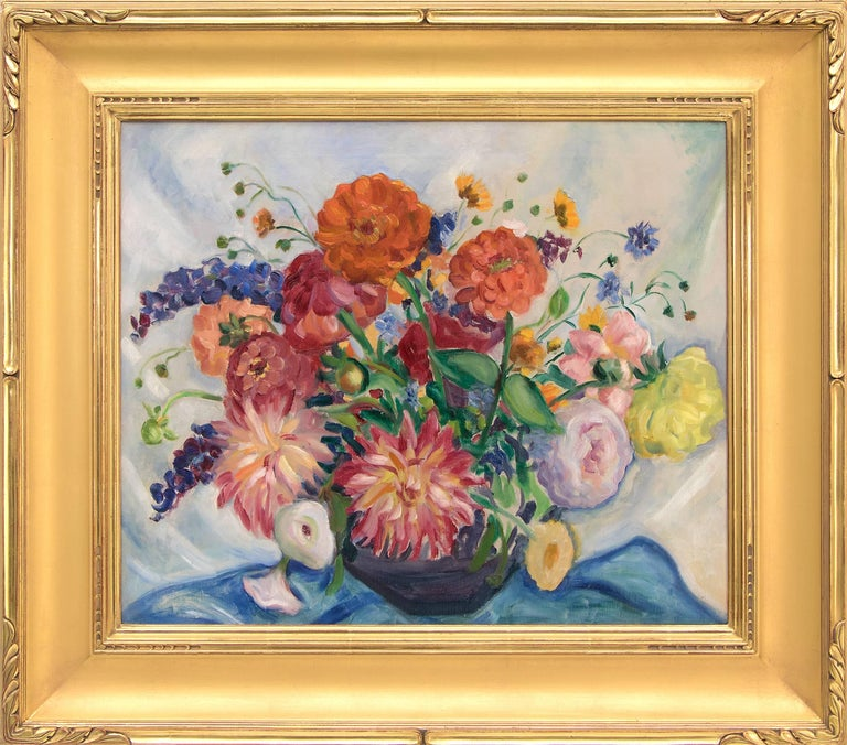 Kenneth Miller Adams Still-Life Painting - Mixed Bouquet