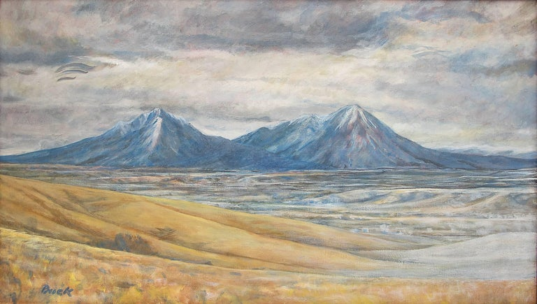 Spanish Peaks (Southern Colorado Landscape) - Painting by Bruce Buck (b.1938)