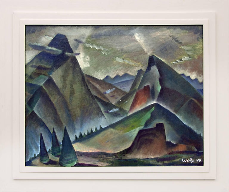 Untitled (Modernist Mountain Landscape)