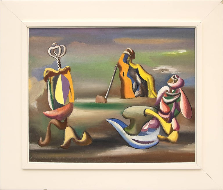 Jan Matulka Abstract Painting - Surrealist Arrangement