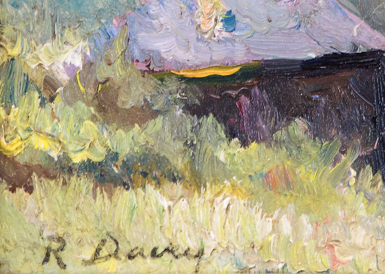 Untitled (Cabin near Estes Park, Colorado) - American Impressionist Painting by Randall Davey