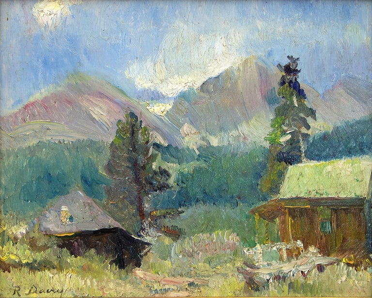 Untitled (Cabin near Estes Park, Colorado) - Painting by Randall Davey