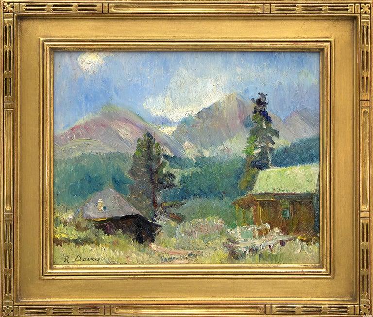 Randall Davey Landscape Painting - Untitled (Cabin near Estes Park, Colorado)