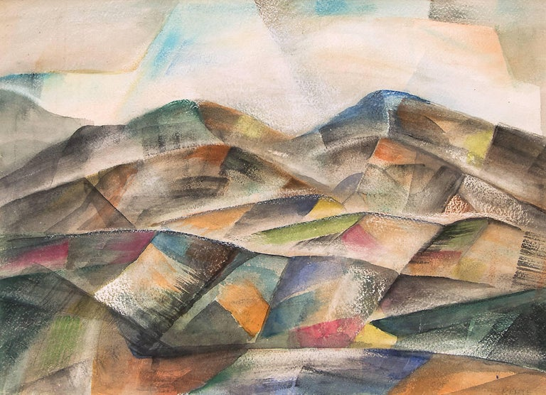 Untitled (Colorado Mountains) - Painting by Frank Pancho Gates