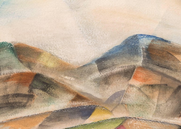 Untitled (Colorado Mountains) - Beige Landscape Painting by Frank Pancho Gates