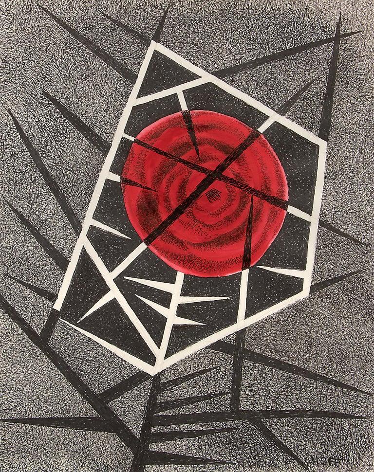 Thorn Rose - American Modern Mixed Media Art by Margo Hoff
