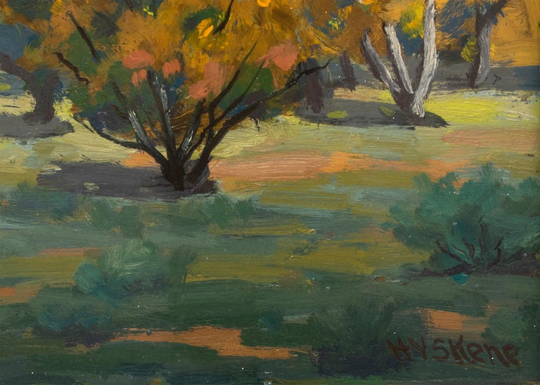 Nambé (New Mexico) - American Impressionist Painting by Harold Skene