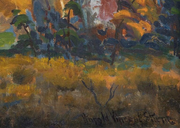 Mt. Sopris (Colorado) - American Impressionist Painting by Harold Skene