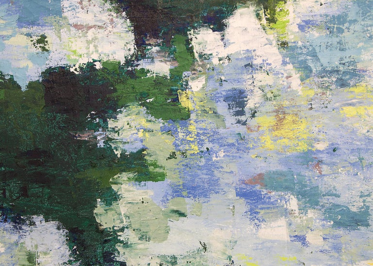 Shimmering Waters - Abstract Painting by Nancy Mayer
