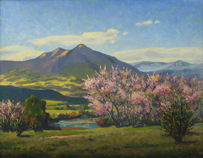 Peach Blossoms - Painting by Harold Skene