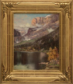 Untitled (Mountain Lake in Autumn)