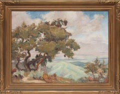 Untitled (California Landscape with Mountains and Trees)