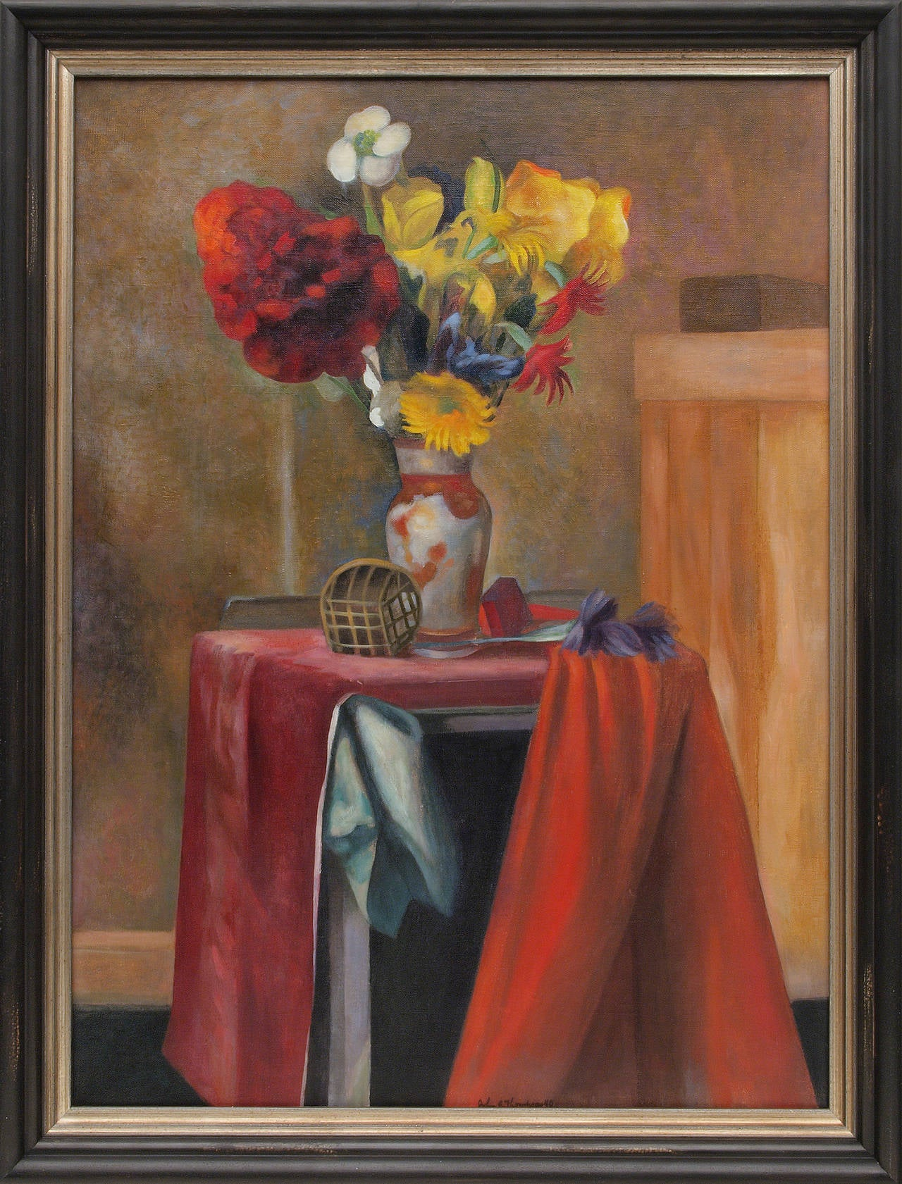 John Edward Thompson Interior Painting - Untitled (Still Life with Flowers)